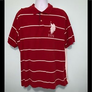 U.S. Polo Assn. Shirts - Men's 3x U.S. Polo Assn. red/White Stripe Used
